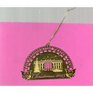 Christmas Ornament Gold toned White House, 2003, Luke211