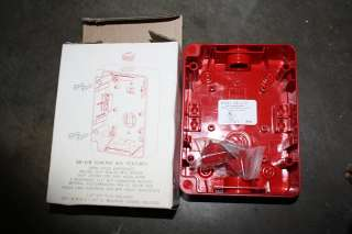 SB I/O RED FIRE ALARM INDOOR OUTDOOR SURFACE MOUNT BACK BOX NIB