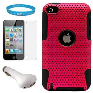 Metallic Pink Protective Rubberized Crystal Hard Snap on Case
