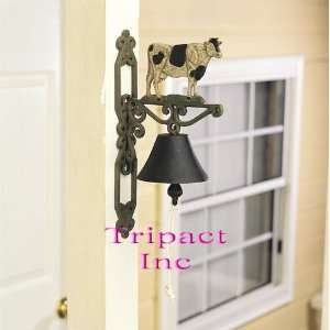 14 Metal Home Décor Cow Cast Iron Bell Home Improvement