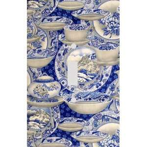 Blue Willow China Collage Decorative Switchplate Cover