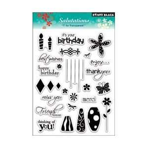 Penny Black Clear Stamps 5X7.5 Sheet Salutations