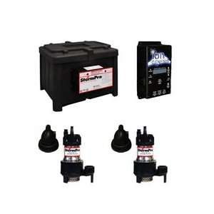 Deluxe Heavy Duty Battery Backup Sump Pump System   STORMPROMAXXDELUXE