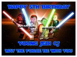 Frosting Image Star Wars Lego Figures Darth Luke Leia Birthday