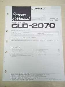 Service Manual~CLD 2070 CD/CDV/LD Player~Original~Repair
