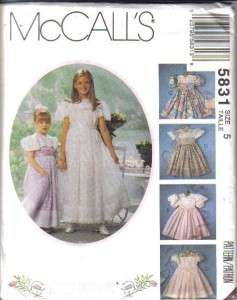 OOP McCalls Sewing Pattern Girls Dress Special Occasion Party Free