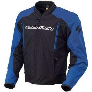 Scorpion Torque Mens Textile On Road Racing Motorcycle Jacket   Blue