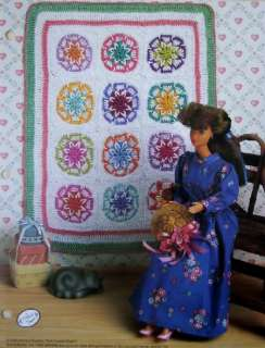 STAR QUILT, Fashion Doll Crochet Pattern, NEW Afghan