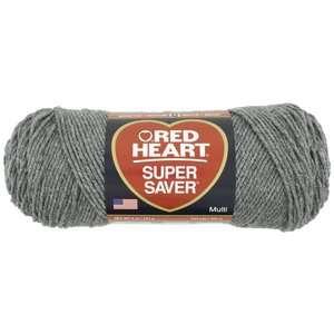 Red Heart Super Saver Yarn 400 Grey Heather 5 oz Crafts