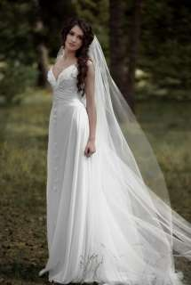 Fairy 2012 Latest Designed Chiffon Beach Wedding Dress/ Gown Sz