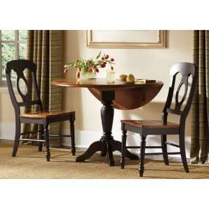 Low Country Round Drop Leaf Pedestal Dining Table by Liberty   Susan