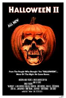 HALLOWEEN 2 II (1981) 27x41 FULL SIZED MOVIE POSTER JOHN CARPENTER