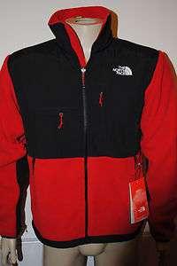NWT MENS The North Face Denali Fleece Jacket BLACK &RED SZ S  XXL