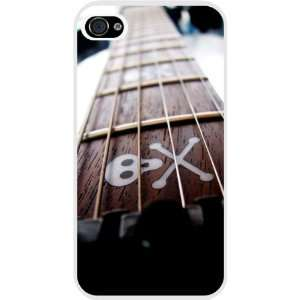 Skull and Crossbones Guitar White Hard Case Cover for Apple iPhone® 4
