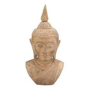48 Buddha Meditating Peace Bust Statue Sculpture Home