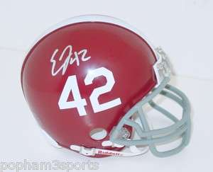 EDDIE LACY Signed/Autographed #42 ALABAMA CRIMSON TIDE Mini Helmet w