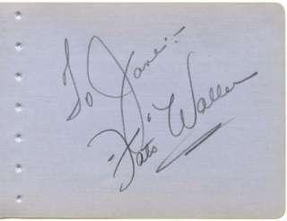 VINTAGE 1930s ORIGINAL SIGNED ALBUM PAGE AUTOGRAPHED JAZZ PIANIST