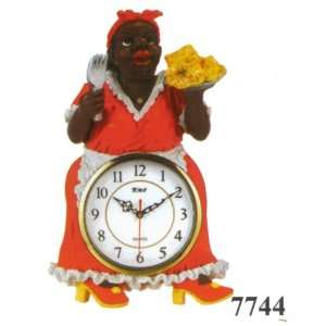 African American Lady Chef Wall Clock DK 7744
