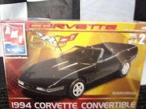 AMT Corvette Convertible 1994 plastic model car kit