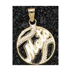 New York Mets Pierced Baseball Gold Pendant Sports