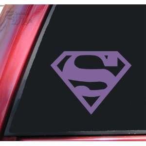 Superman Vinyl Decal Sticker   Lavender Automotive