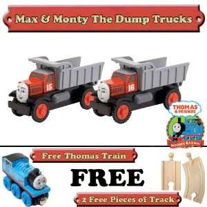 Max & Monte The Dump Trucks are from Thomas The Tank