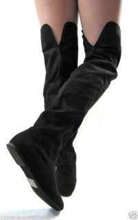 Thigh High Boots Over Knee Flats Heel Women Dress Shoes