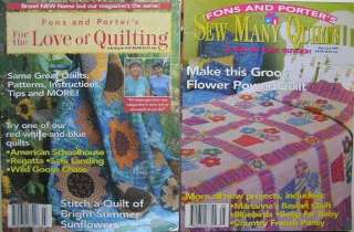 FONS & PORTER LOVE of QUILTING SEW MANY QUILTS MAGAZINE PATTERN LOT