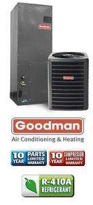 Ton 14 Seer Goodman Heat Pump System   GSZ130481   AVPTC42601