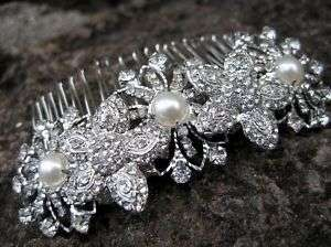 Sparkling Rhinestone Hair Comb headpiece