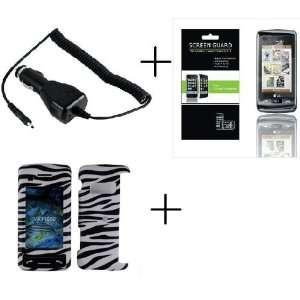 LG VX11000 White+Black Zebra Premium Designer Hard Protector Case
