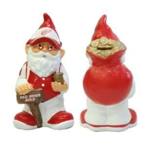 Detroit Red Wings NHL Garden Gnome   10 Bank Sports