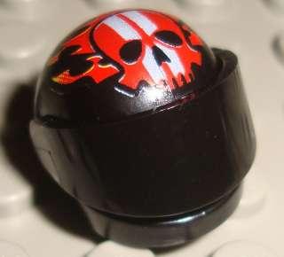 LeGo Racers Black Helmet Fire Skull Pattern w/ Visor