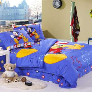 Sport Mickey Mouse Kids Bedding Sets Duvet Cover and Sheet Set