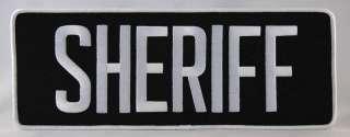 Large Sheriff Officer Jacket Uniform Back Patch Badge Emblem 11X4