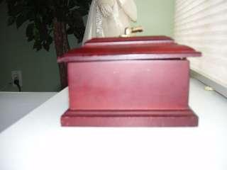 Very Pretty Small Wooden Jewelry Box Brass Hardware