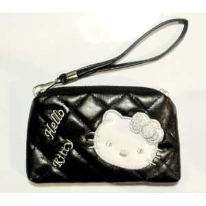 Hello Kitty Pouch Black / with white face