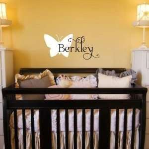 Girls Butterfly Name Designer Wall Decal Automotive