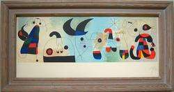 JOAN MIRO Signed 1951 Color Lithograph with Pochoir
