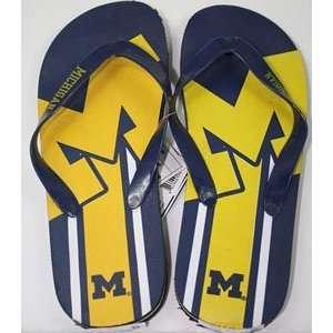 Michigan Unisex Big Logo Flip Flops   Medium Sports