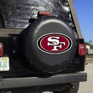 NFL San Francisco 49ers Black Logo Tire Cover Sports