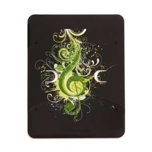 iPad 5 in 1 Case Matte Black Green Treble Clef