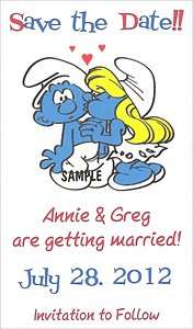 The Smurfs Save the Date Wedding Magnets Supplies Personalized Favors