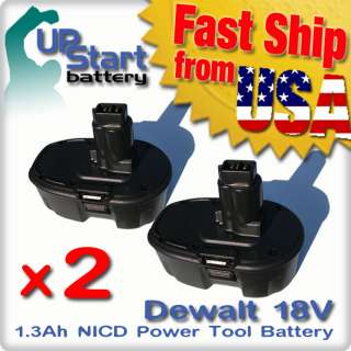 2x New Replacement Battery for Dewalt 18 Volt Power Tools