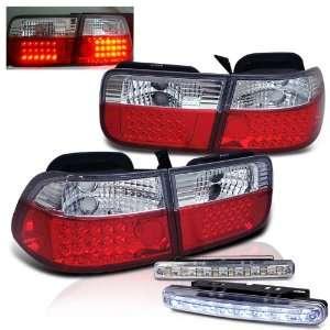 Eautolights 96 00 Honda Civic 2 Door LED Tail Lights + Bumper Fog Set