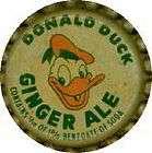 VINTAGE WALT DISNEY DONALD DUCK ginger ale soda bottle cap