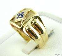 Masonic Vintage Mens Emblem Masons Ring   10k Gold 15.4g Sz9 Lodge