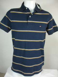 New Tommy Hilfiger Mens Golf Polo Shirt Striped Mesh