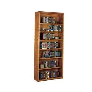 Martin Furniture Medium Oak 84H Open Bookcase Home & Kitchen