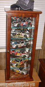 Beautiful 6 Car Cherry NASCAR Display Case/Cabinet